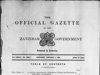 Tanzania (Zanzibar), 1920-1945 | British Online Archives