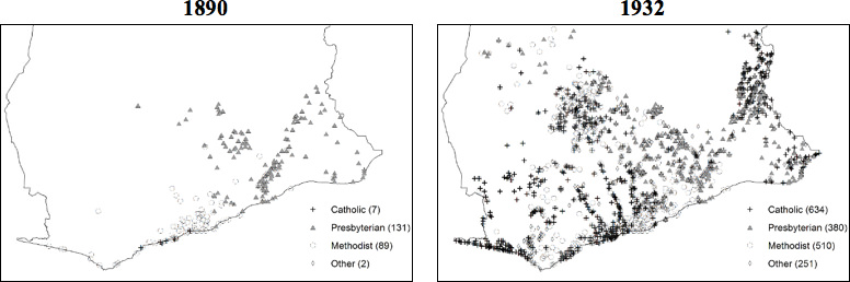 Christian churches in Ghana, 1890 and 1932